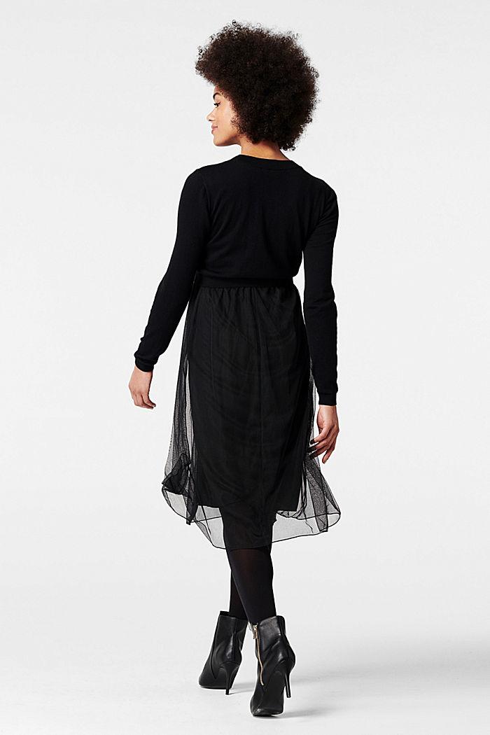 Kleid mit Tüllrock und Stillfunktion, GUNMETAL, detail image number 1