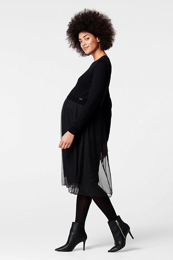 Kleid mit Tüllrock und Stillfunktion, GUNMETAL, detail image number 3