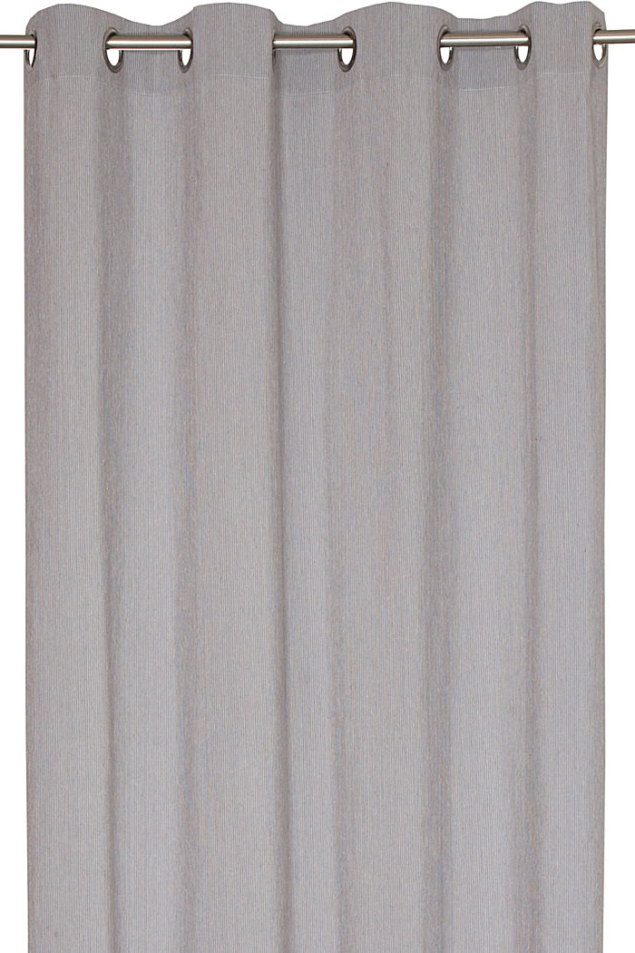 e-needlestripe curtain, GREY, detail image number 1