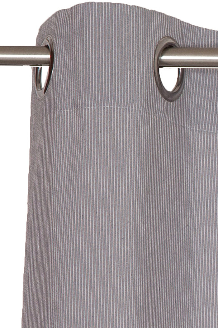 e-needlestripe curtain, GREY, detail image number 2