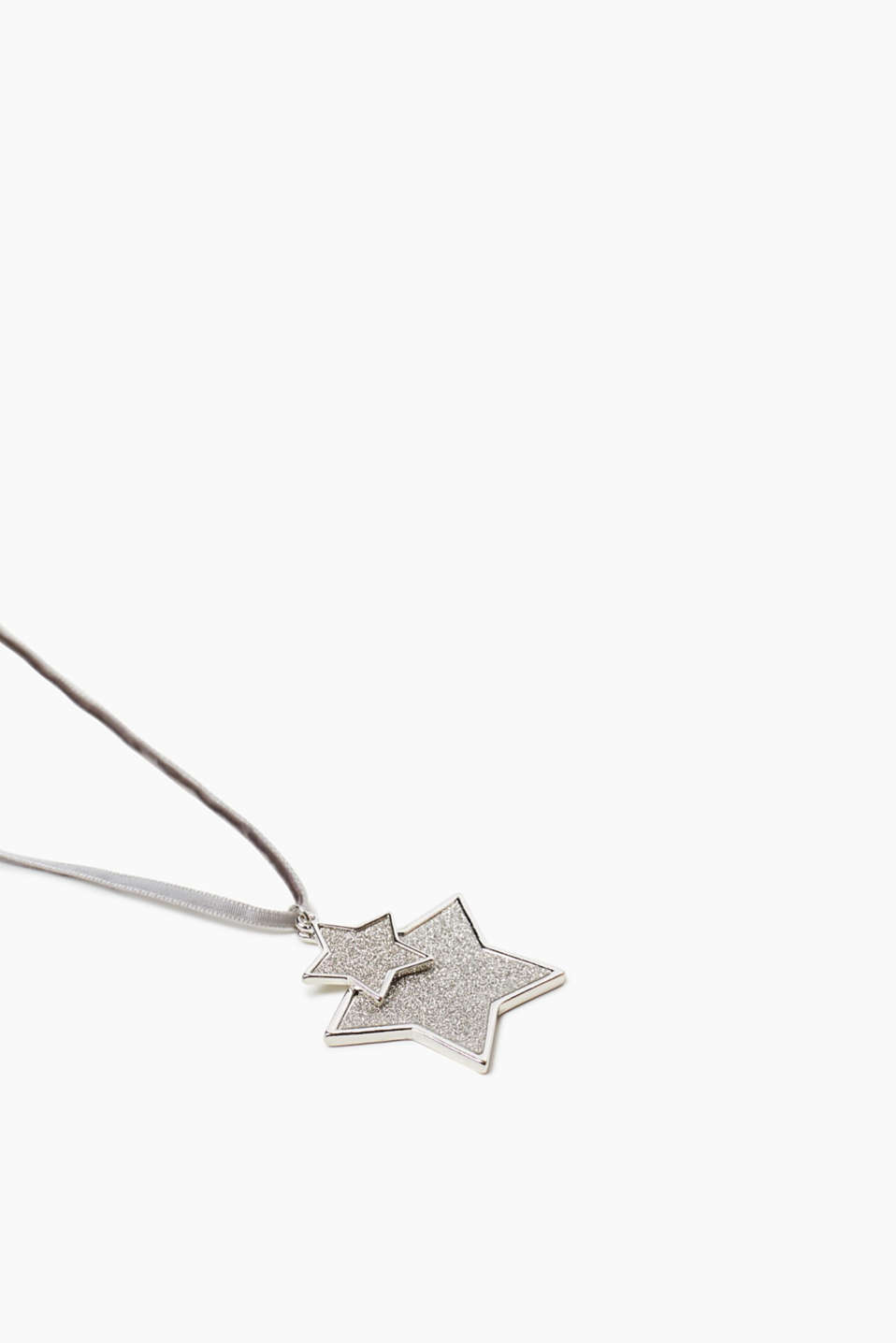 Velvet necklace with metal stars