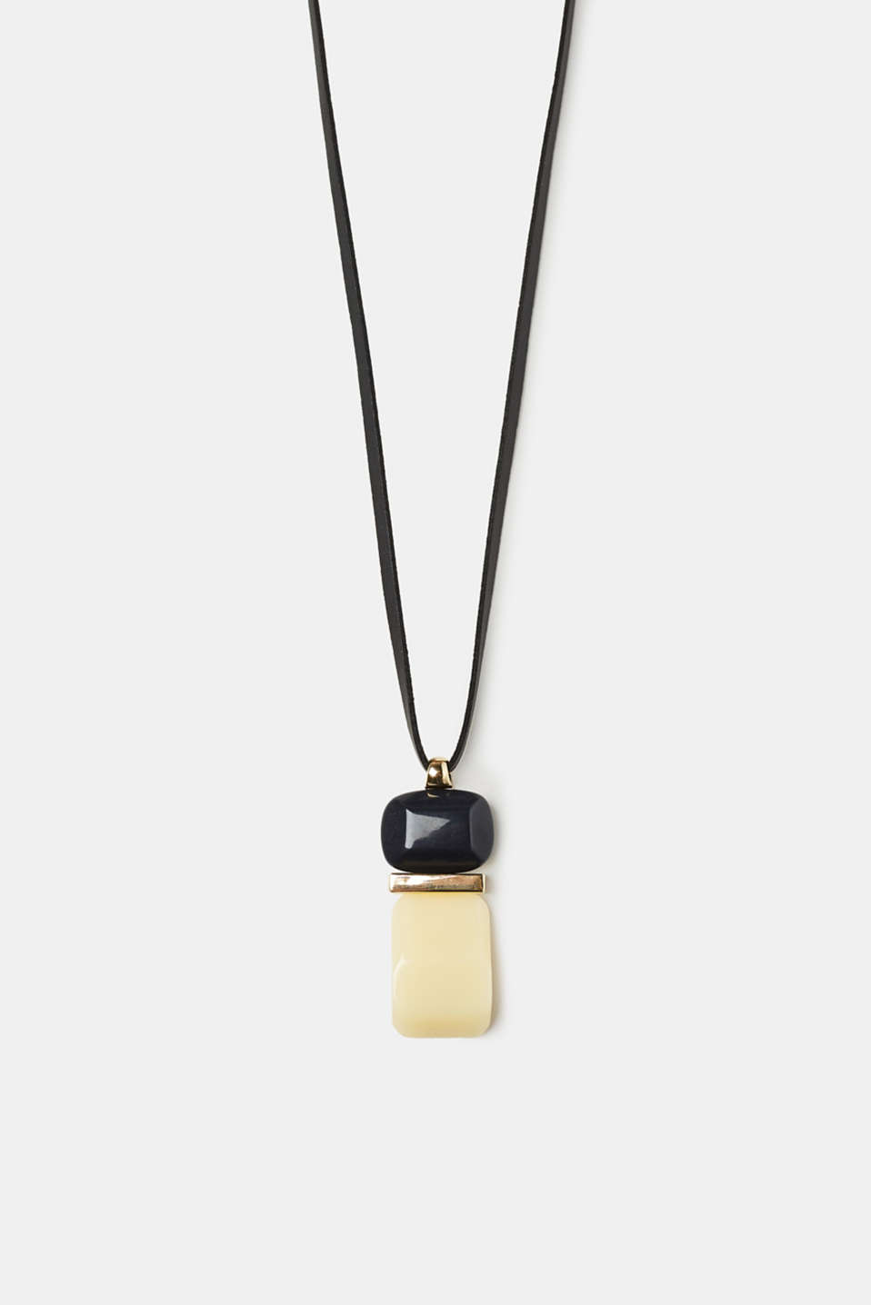 Esprit - Long necklace with a stone-effect pendant