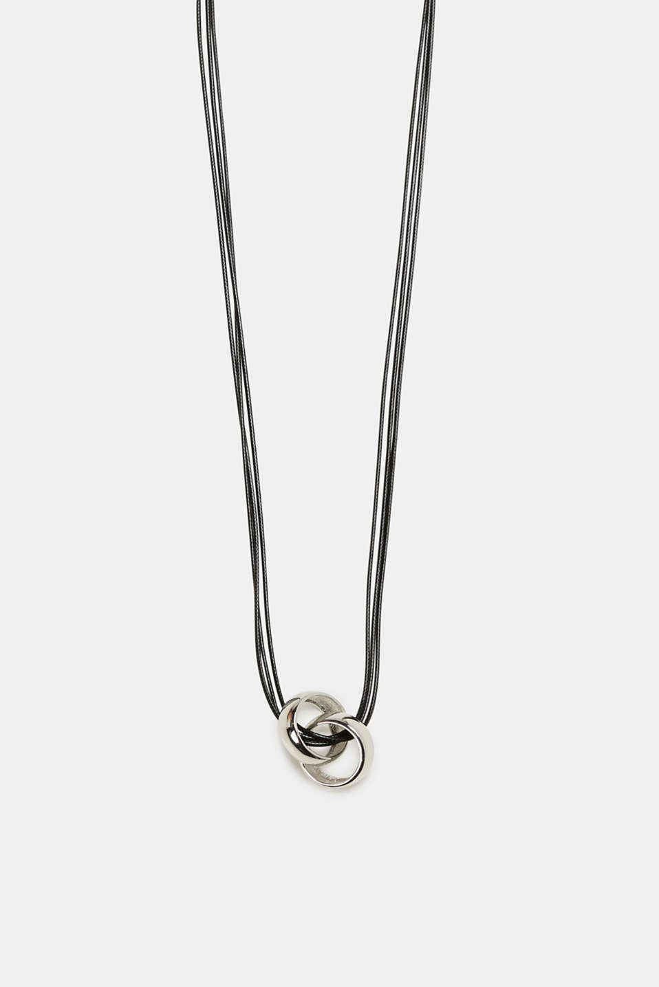 Esprit - Long necklace with metal rings