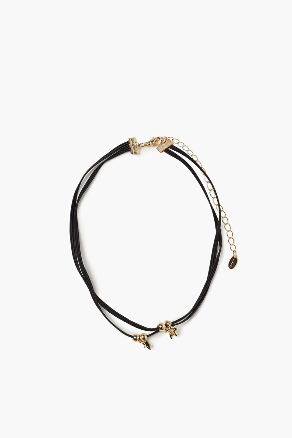 Esprit - Elasticated choker with metal details
