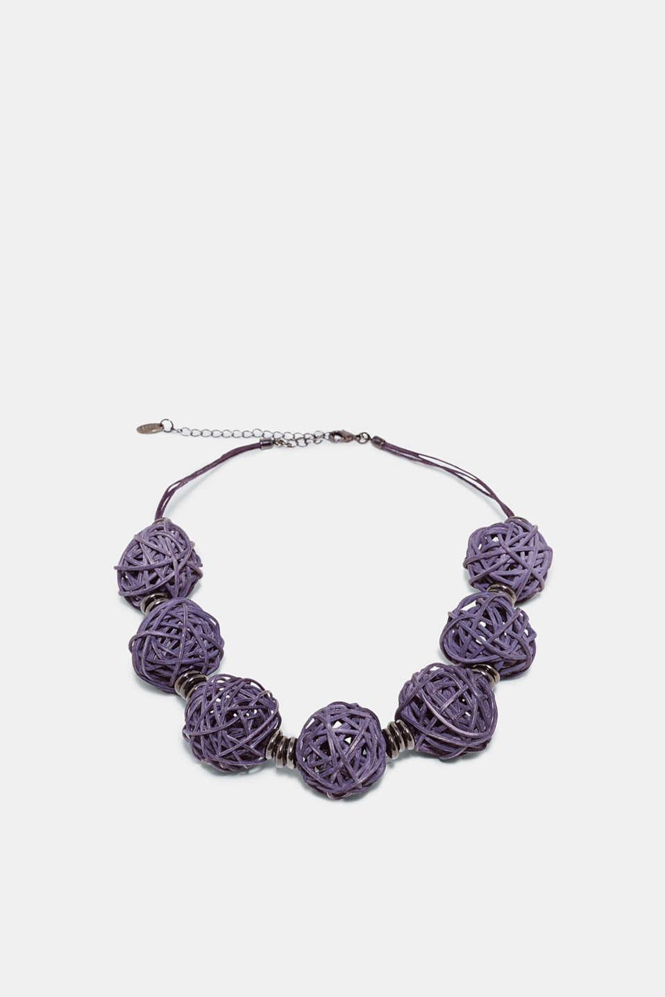 Esprit - Necklace with braided straw beads
