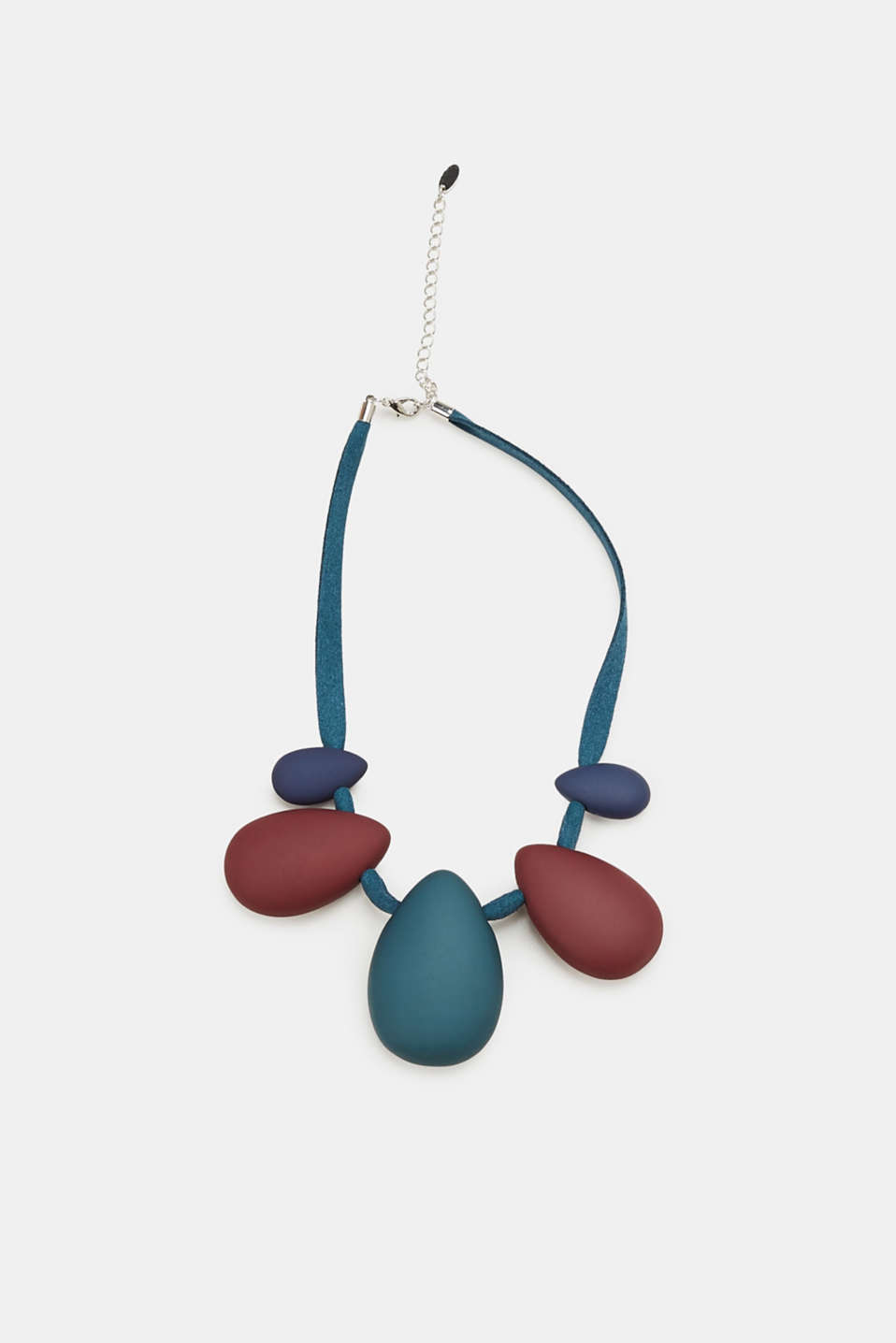 Esprit - Necklace with teardrop-shaped pendants