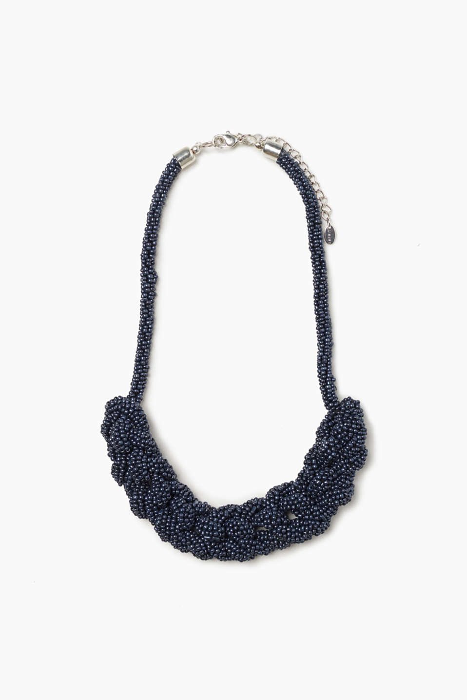 Esprit - Short necklace + glass beads in braid style
