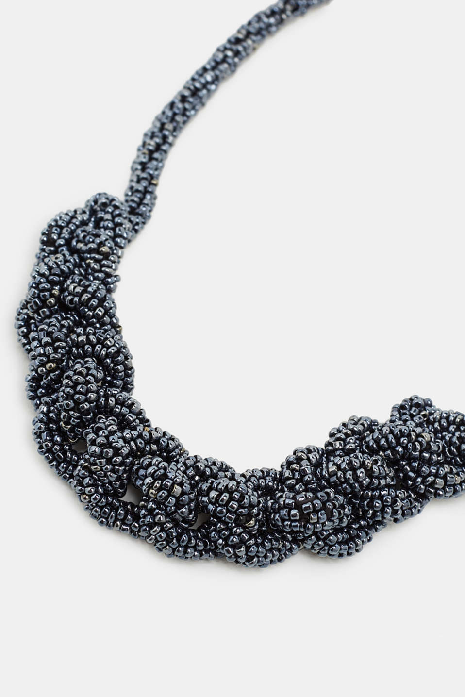 Statement necklace with plastic beads, BLACK, detail image number 1