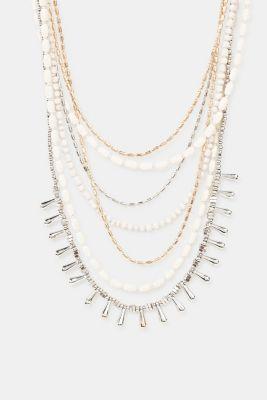 Multi-strand statement necklace, 1COLOR, detail