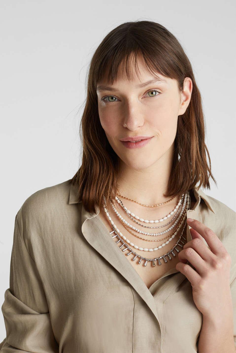 Multi-strand statement necklace, 1COLOR, detail image number 2