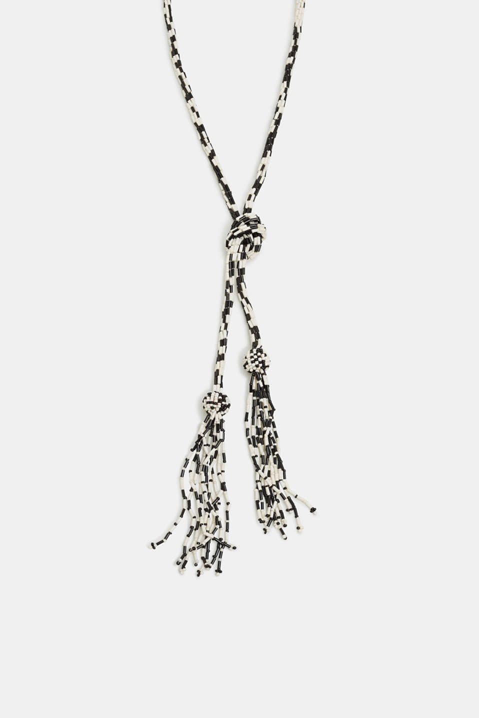 Esprit - long knot necklace with fringes