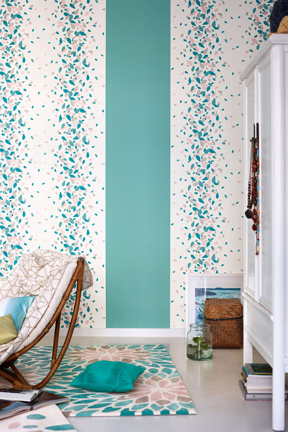 Vlies wallpaper Deep Summer Patterned