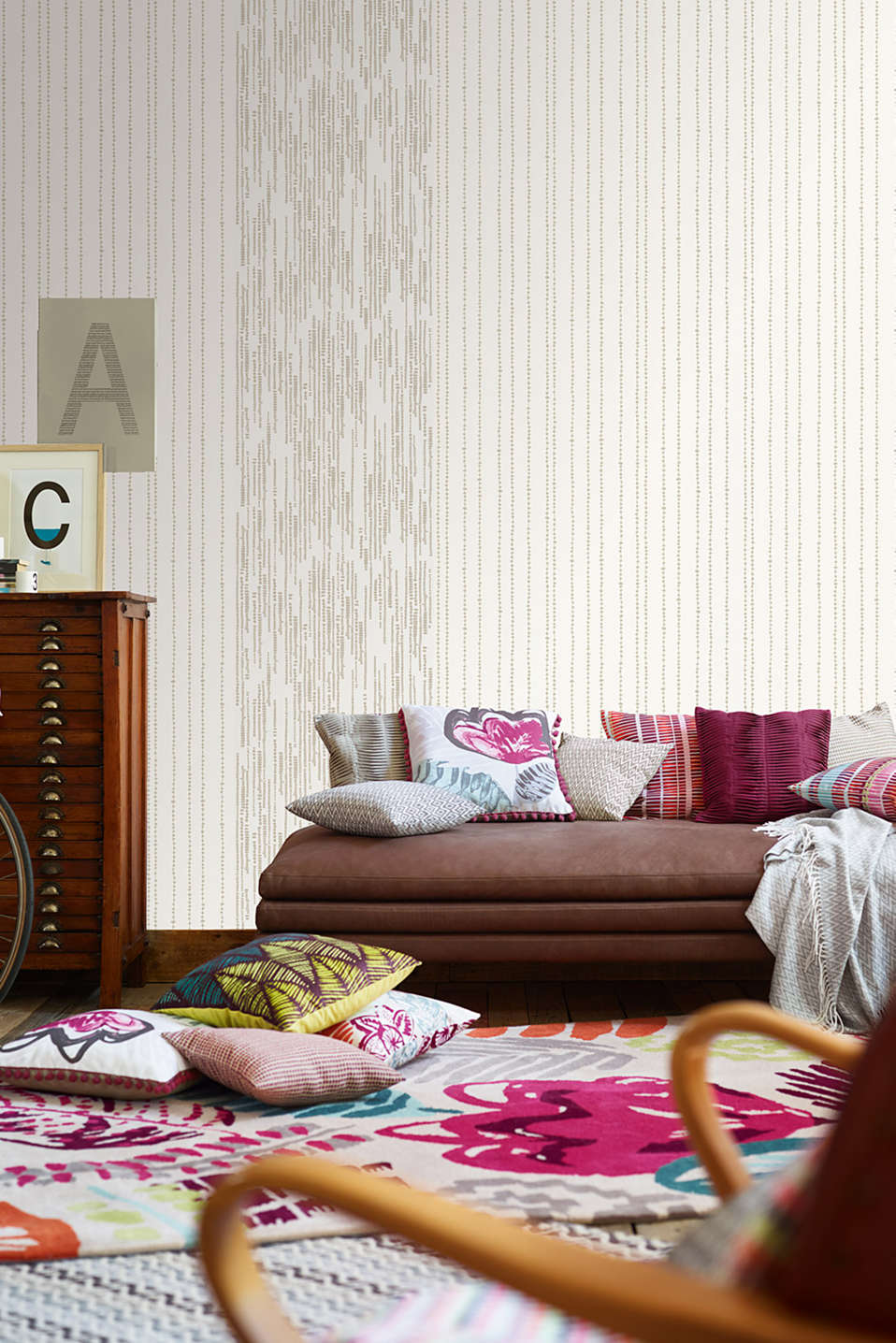 Vlies wallpaper Artisan Fall Striped