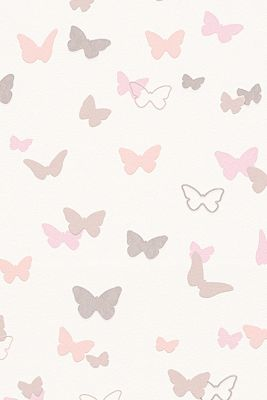 Kids wallpaper Sweet Butterfly Patterned , one colour, detail