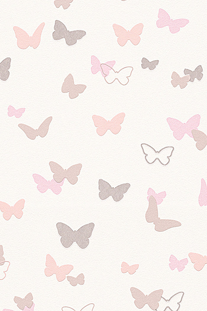 Kids wallpaper Sweet Butterfly Patterned , ONE COLOUR, detail image number 0