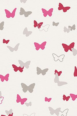 Sweet Butterfly Patterned kids wallpaper, one colour, detail