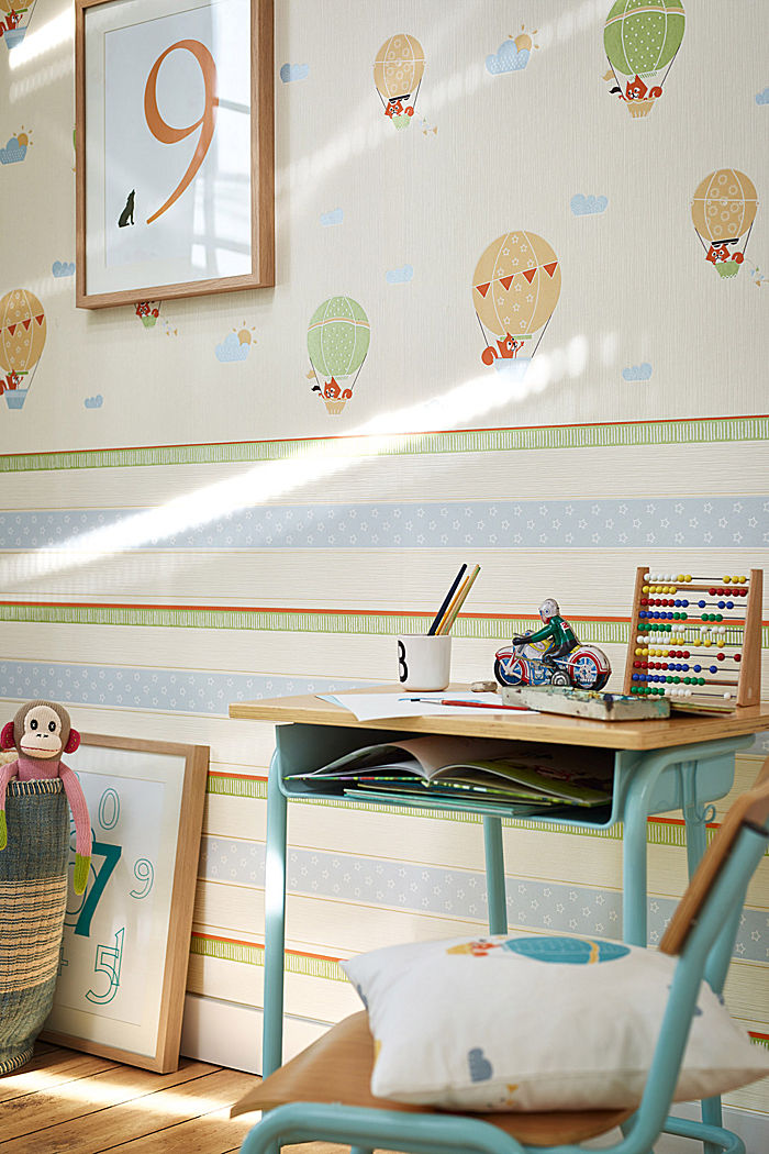 Kids wallpaper High Sky Aerostat Striped, ONE COLOUR, detail image number 1