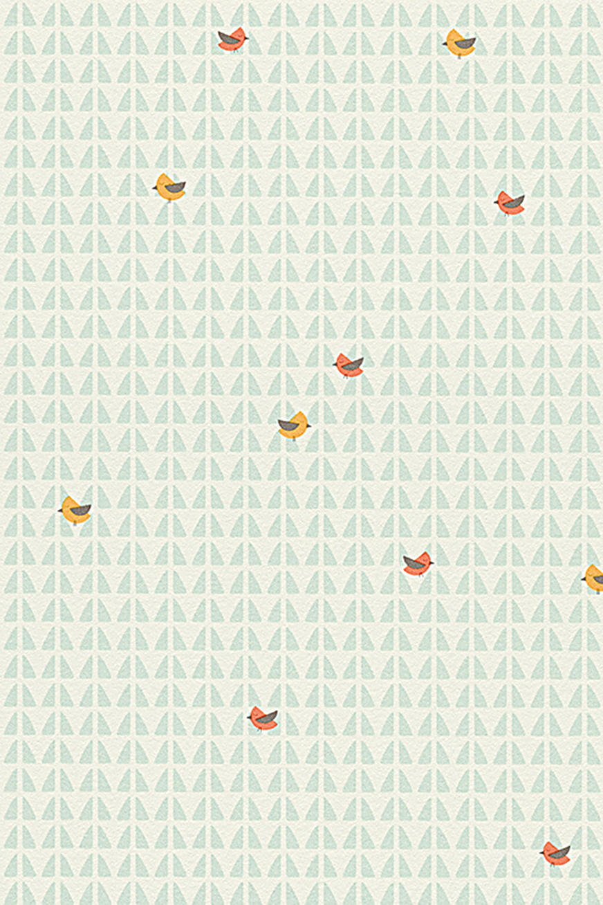 Lasten tapetti High Sky Birds Patterned