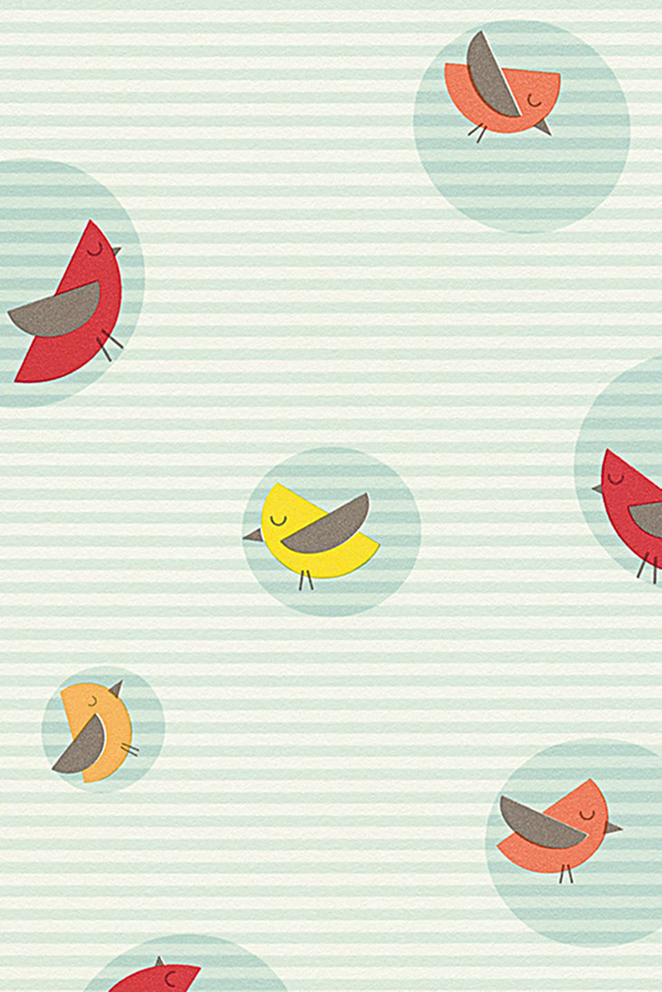 Esprit - Papier peint High Sky Birds Patterned