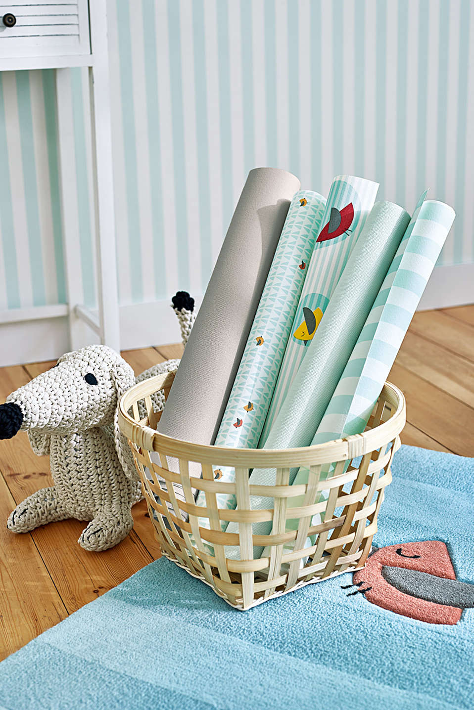 Kids wallpaper High Sky Birds Patterned, one colour, detail image number 3
