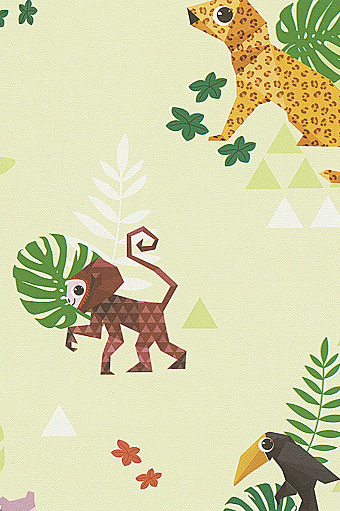 Kids wallpaper Jungle Party, ONE COLOUR, detail image number 0