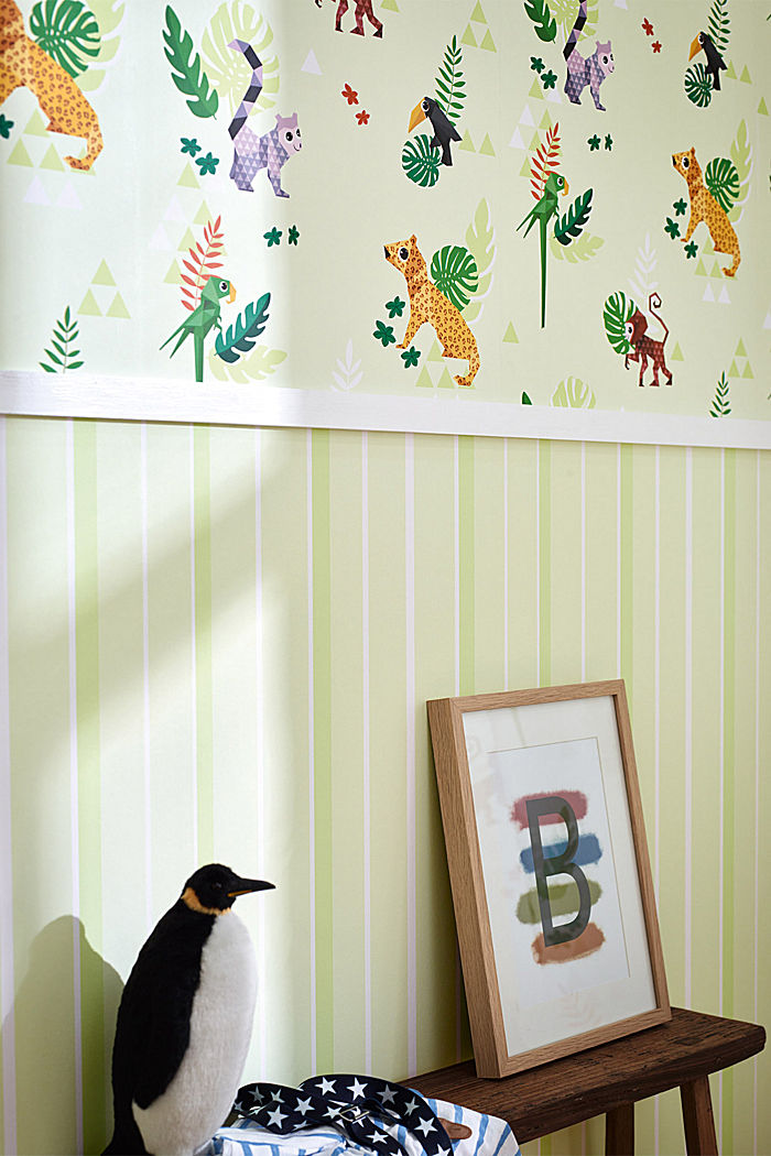 Kids wallpaper Jungle Party, ONE COLOUR, detail image number 2