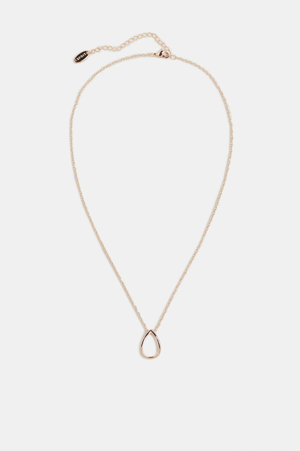 Necklace with teardrop pendant, ROSEGOLD, detail image number 0