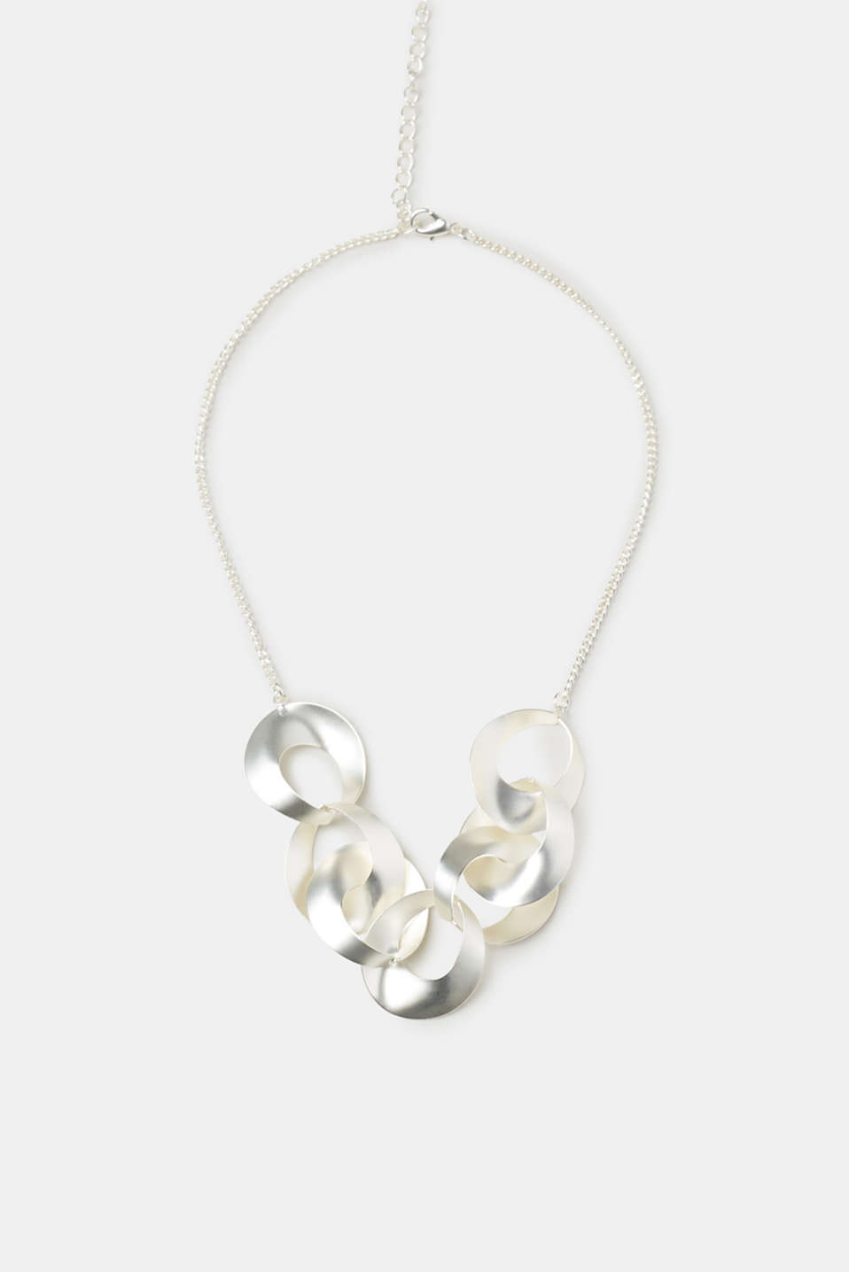 Esprit - Necklace with matte metal rings
