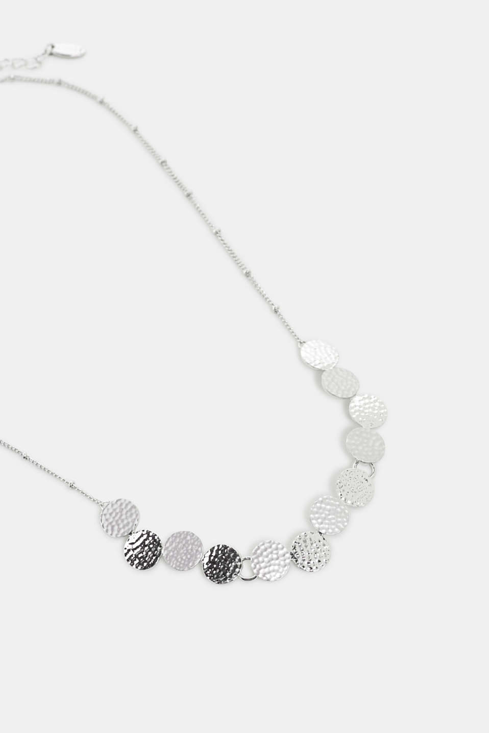 Esprit - Necklace with textured disc pendants, made of metal