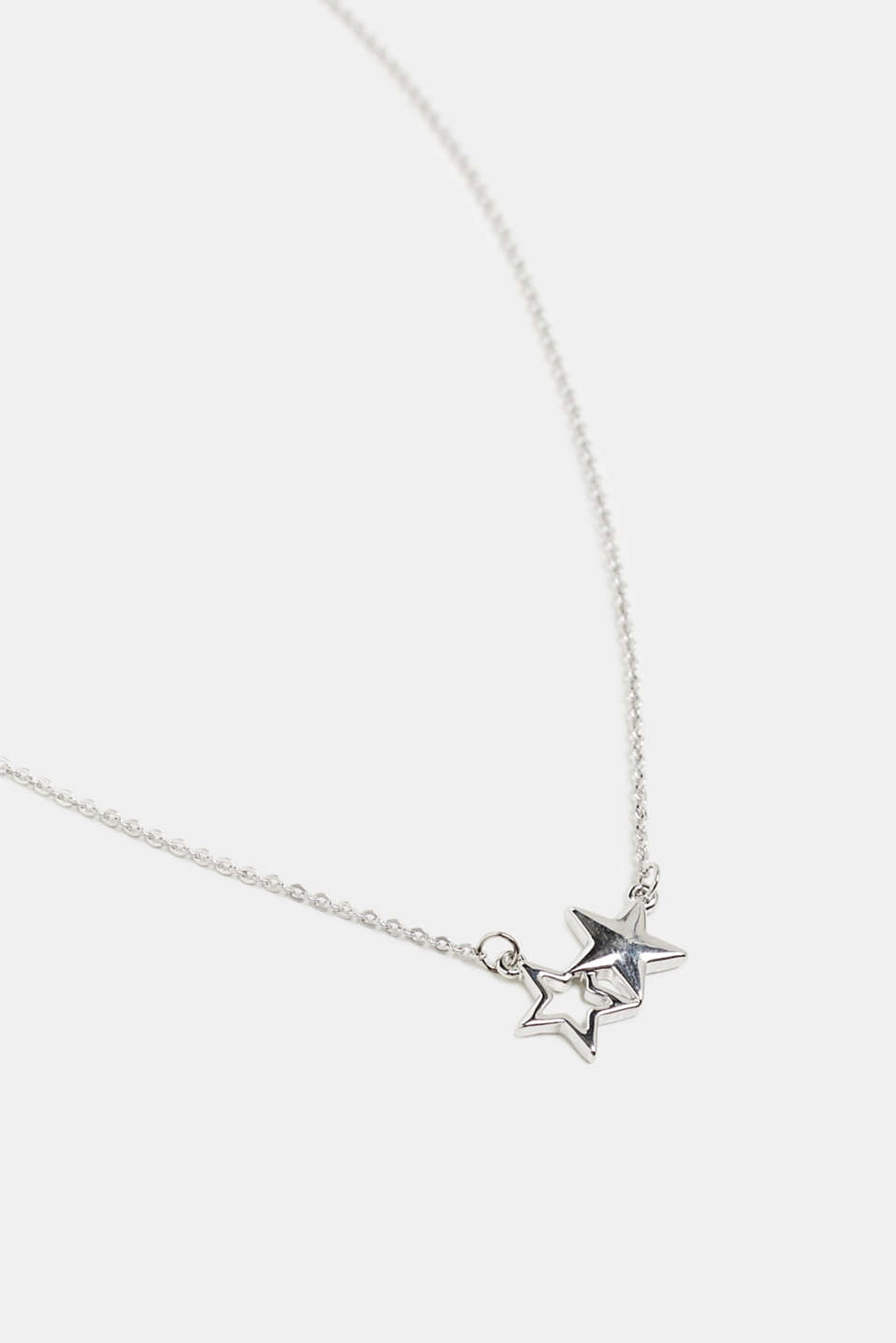 Metal necklace with a star pendant, SILVER, detail image number 0