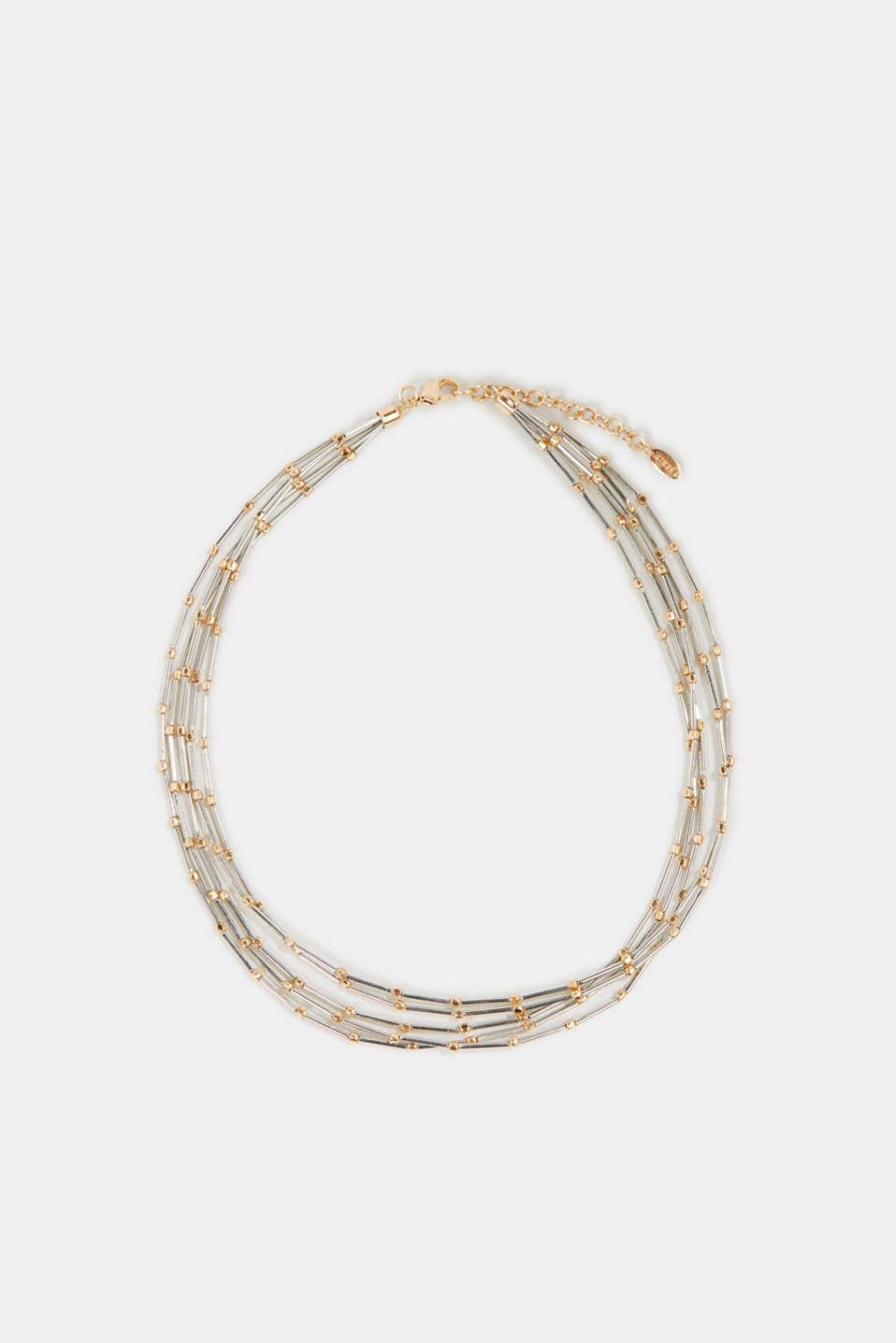 Five-strand metal necklace, 1COLOR, detail image number 0