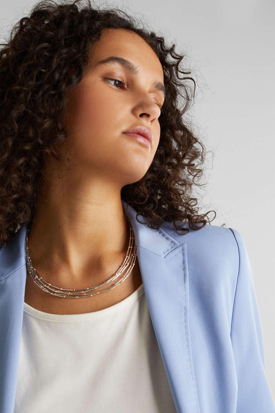Five-strand metal necklace, 1COLOR, detail image number 2