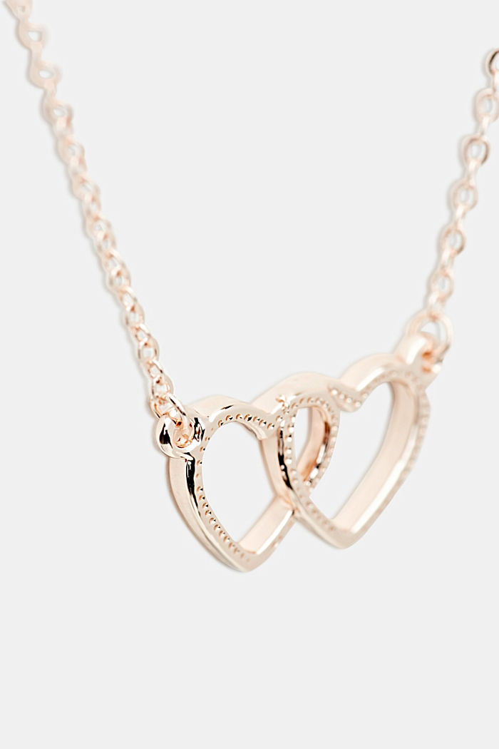 Necklace with heart pendant, ONE COLOUR, detail image number 1