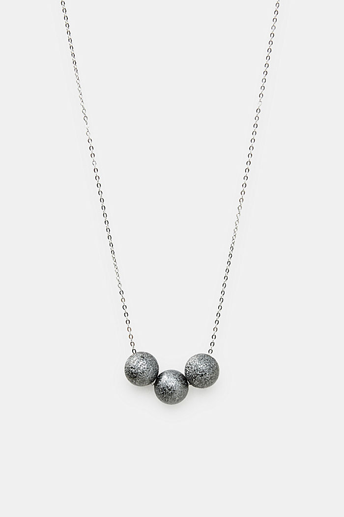 Necklace with a metallic orbs, ONE COLOUR, detail image number 0
