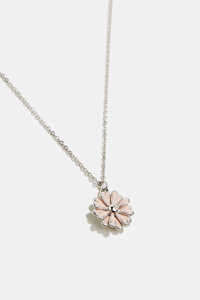 Necklace with a floral pendant, ROSE, detail image number 1