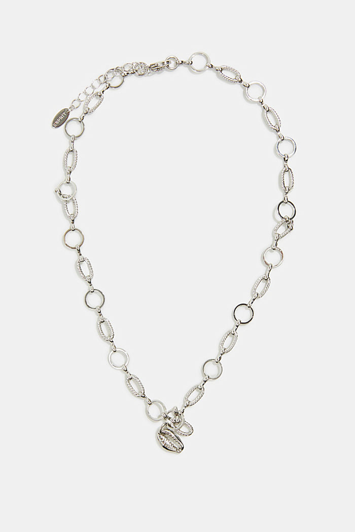 Necklace with a shell pendant, SILVER, detail image number 0