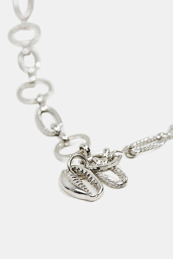 Necklace with a shell pendant, SILVER, overview