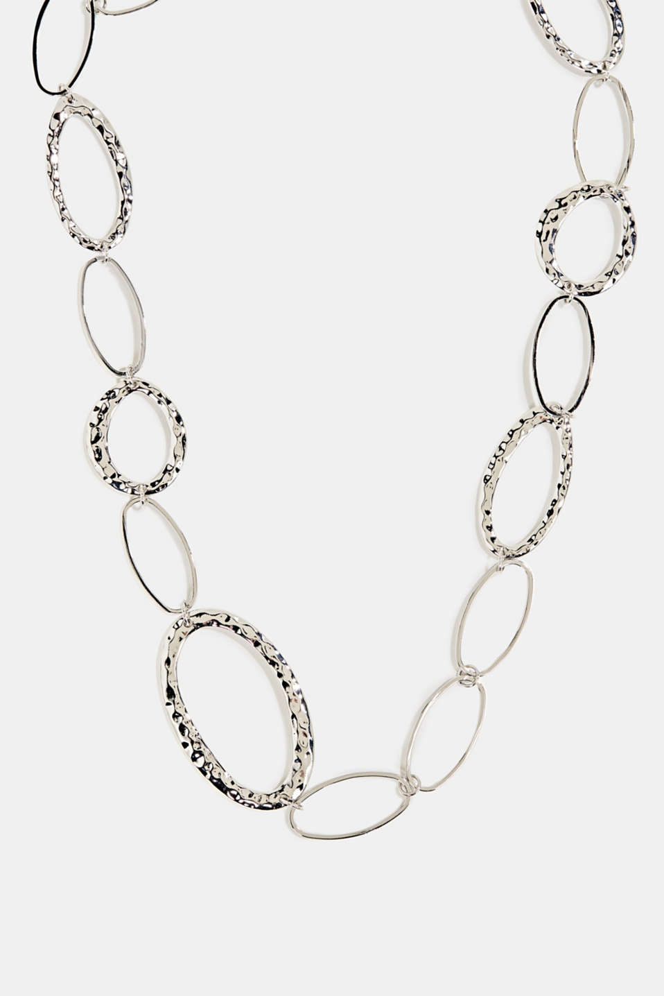 Esprit - Silver metal necklace with oval links