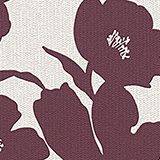 Non-woven wallpaper in a floral design, BURGUNDY, swatch