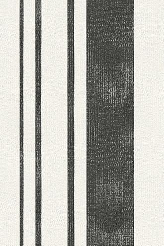 Non-woven wallpaper with block stripes