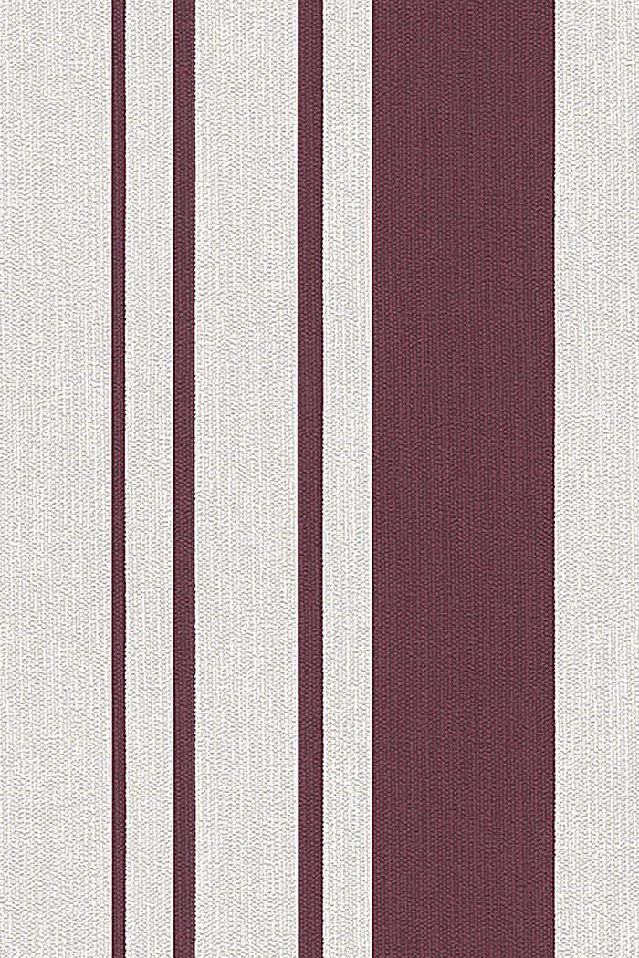 Non-woven striped wallpaper, BURGUNDY, detail image number 0