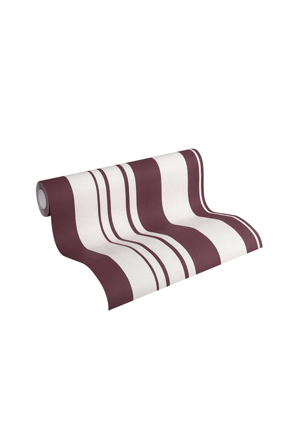 Non-woven striped wallpaper, BURGUNDY, detail image number 1