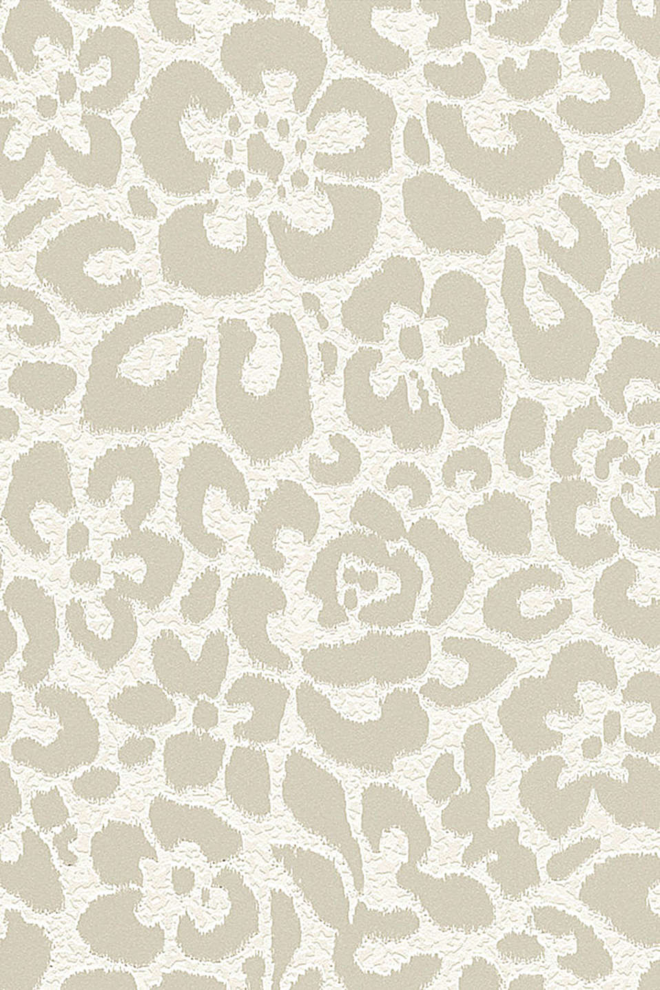 Floral non-woven wallpaper, TAUPE, detail image number 0
