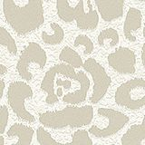 Floral non-woven wallpaper, TAUPE, swatch
