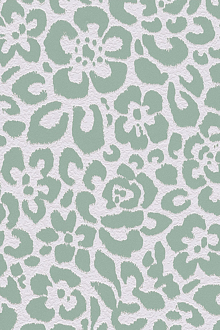Non-woven floral wallpaper, MINT, detail image number 0