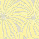 Palm pattern non-woven wallpaper, YELLOW/GREY, swatch