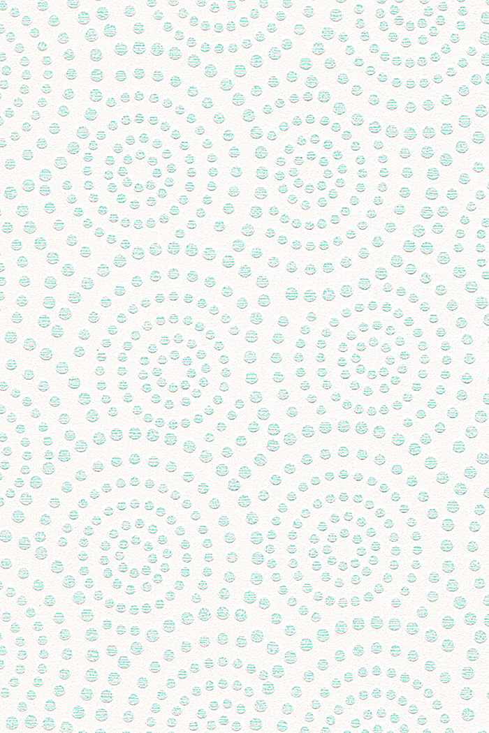 Non-woven wallpaper, geometric pattern, TURQUOISE, detail image number 0