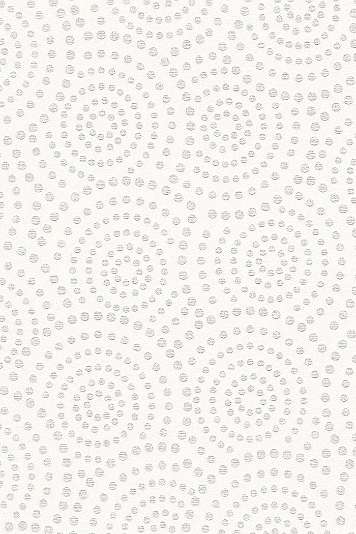Vlies-Tapete mit geometrischem Muster, GREY, detail image number 0