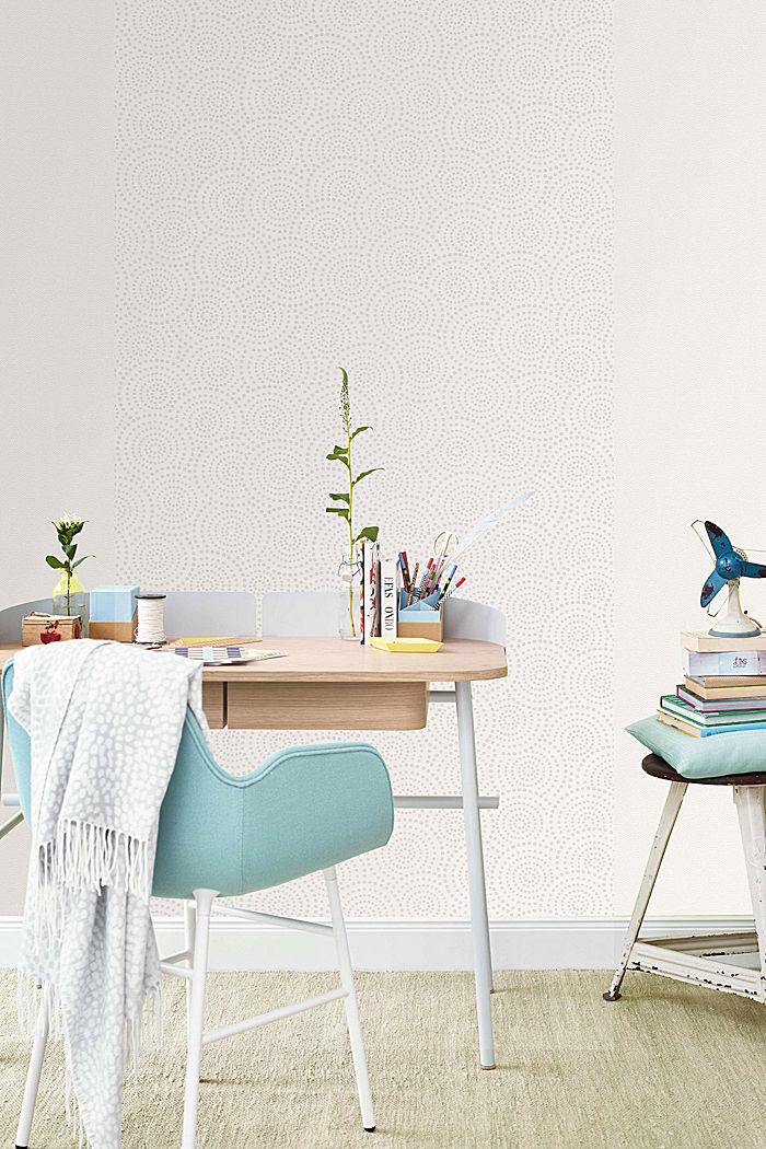 Non-woven geometric pattern wallpaper, GREY, detail image number 2