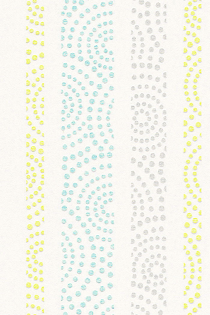 Non-woven polka dot pattern wallpaper, GREEN/TURQUOISE, detail image number 0